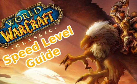 WoW CLassic Speed Level Guide Titel mit Greifenreiter