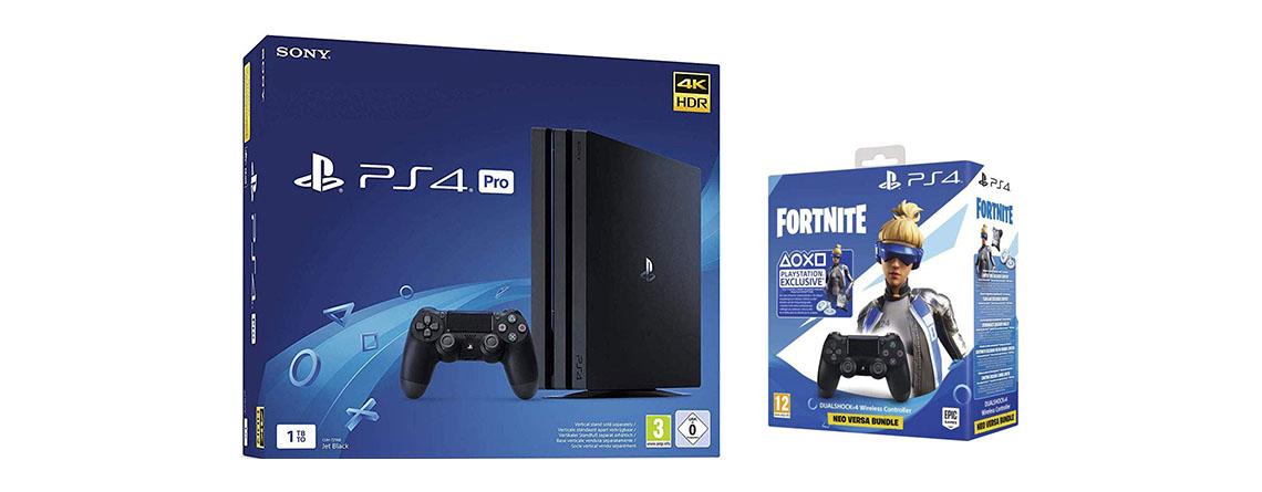 PS4 Pro Fortnite Neo Versa Bundle bei Amazon im Angebot