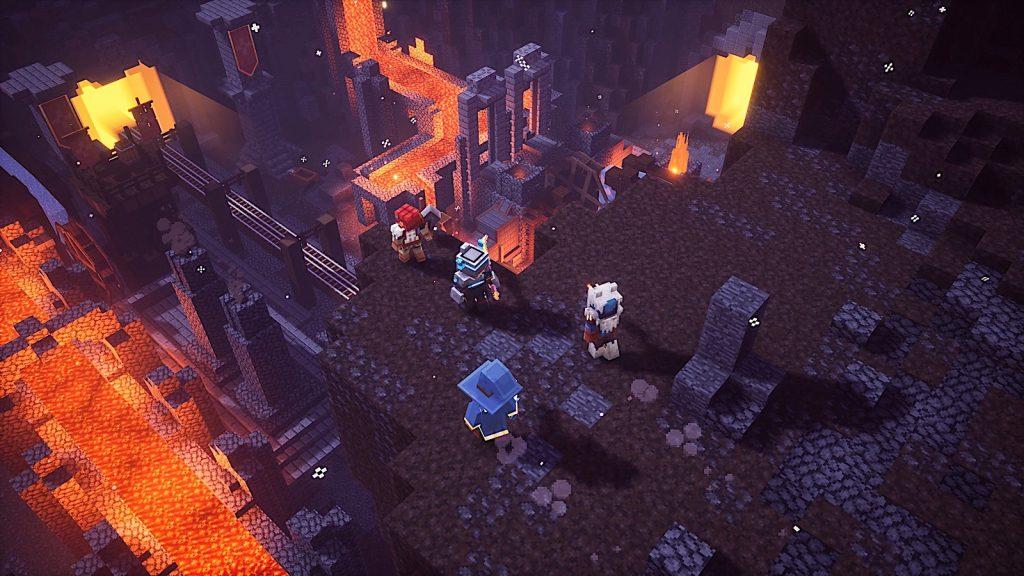 Minecraft Dungeons lava miene