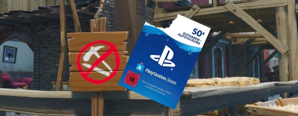 Spieler aß eine PS4-Karte, weil man in Fortnite nicht mehr bauen darf