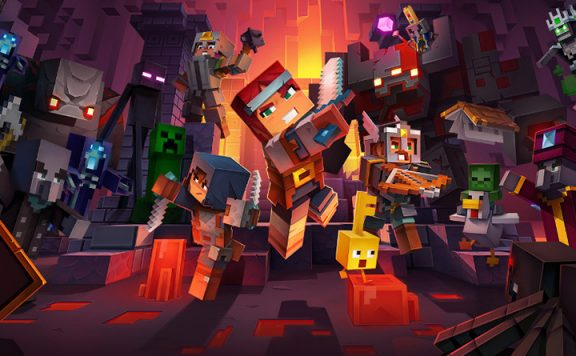 minecraft dungeons familien game header