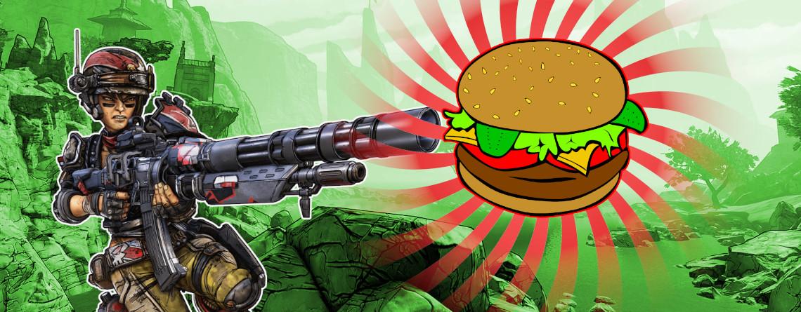 Okay – Borderlands 3 hat sogar eine Waffe, die Hamburger verschießt