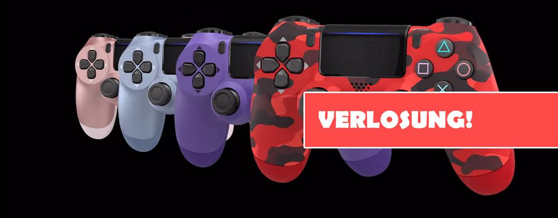 Wir verlosen zwei Dualshock 4 für PS4 in schicken neuen Farben – Macht mit!