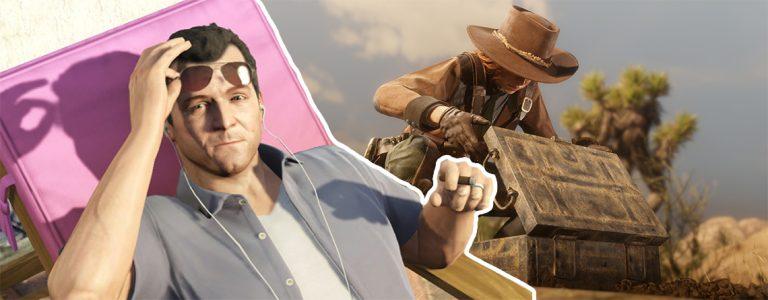 GTA Online Red Dead Online Mashup Titel