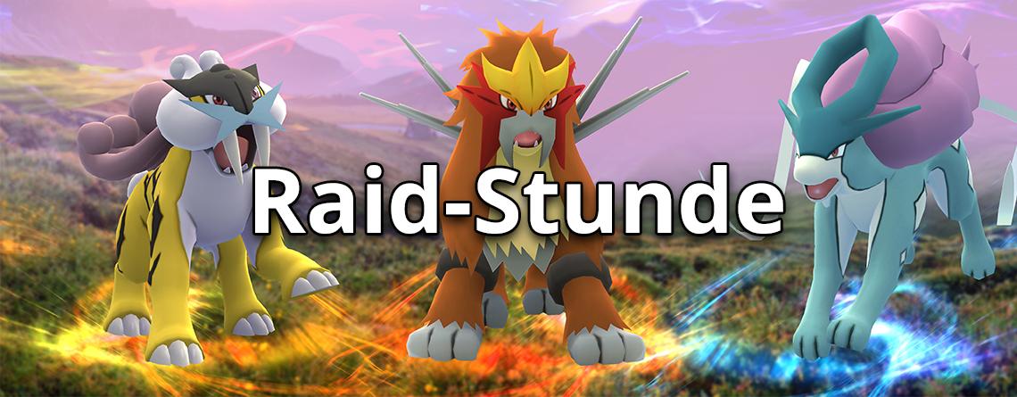In Pokémon GO läuft jetzt die Raid-Stunde mit Entei, Raikou, Suicune