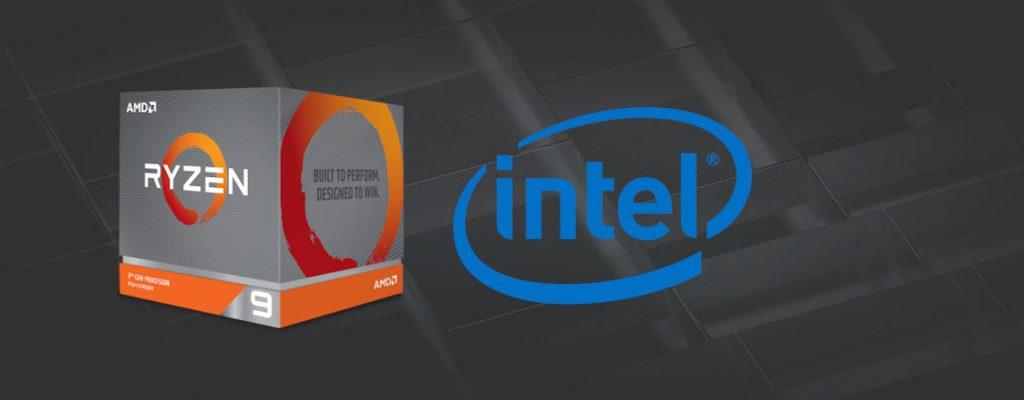 Ryzen 9 vor Verkauf mit Intel Symbol