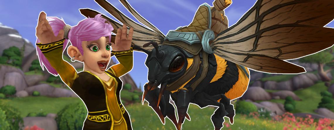 WoW Guide: So bekommt ihr jetzt das coole Bienen-Mount Hönigrückenernterin