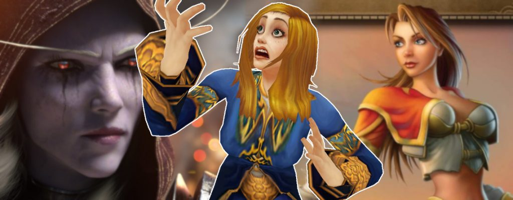 WoW Classic Female Mage shock background sylvanas mage title 1140x445