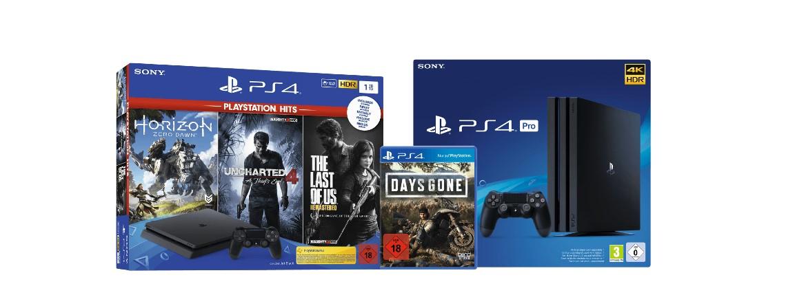PlayStation 4 Pro und Slim im Spiele-Bundle günstiger bei Amazon