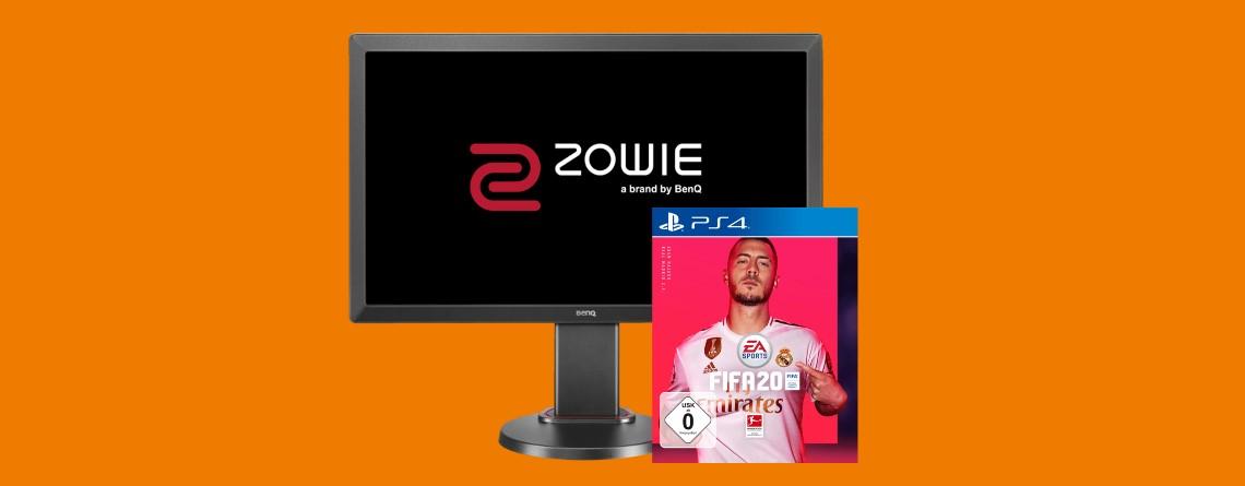 Gaming-Monitor mit FIFA 20 für PS4 und mehr bei Saturn reduziert
