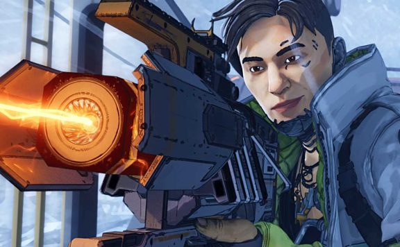 Apex Legends Crypto mit Charge Rifle Titel