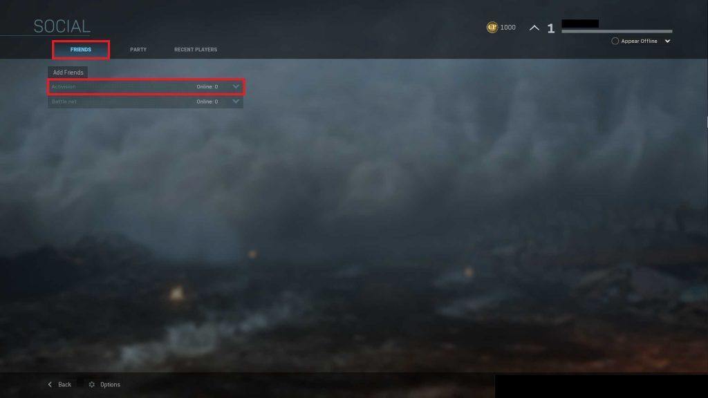 Call of Duty Modern Warfare Social Crossplay