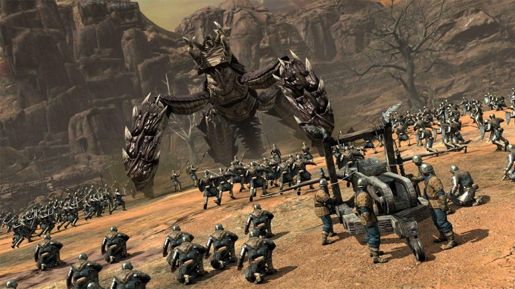Kingdom Under Fire 2 riesiges Insekt und Katapult