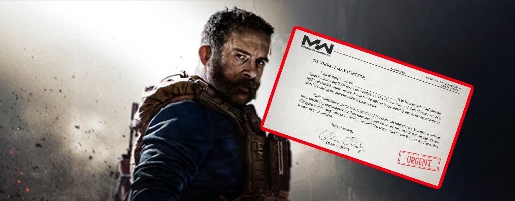 Wer wegen CoD Modern Warfare krank feiern will, dem gibt Activision den Vordruck