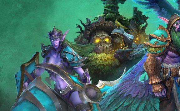 Warcraft 3 Reforged Night Elves title 1140×445