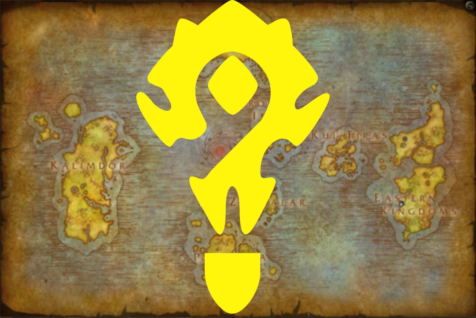 WoW Battle for Azeroth Map Weltkarte Fragezeichen