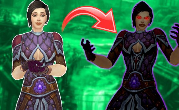WoW Corruption female mage title 1140×445