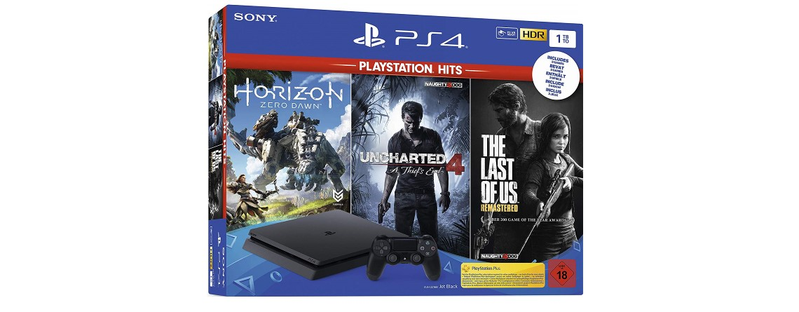 PlayStation 4 im Bundle mit 3 Top-Spielen günstig im Angebot bei Amazon