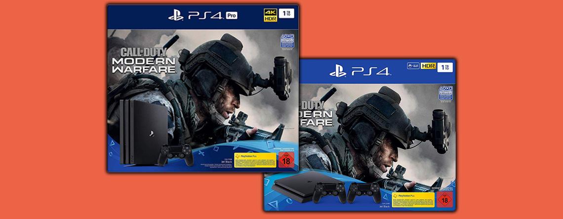 Amazon Angebot: PS4 Pro mit CoD: Modern Warfare für nur 350 Euro
