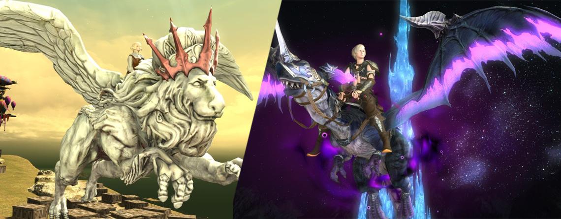 Final Fantasy XIV: So findet ihr alle Mounts, Begleiter und Cosmetics aus Patch 5.1