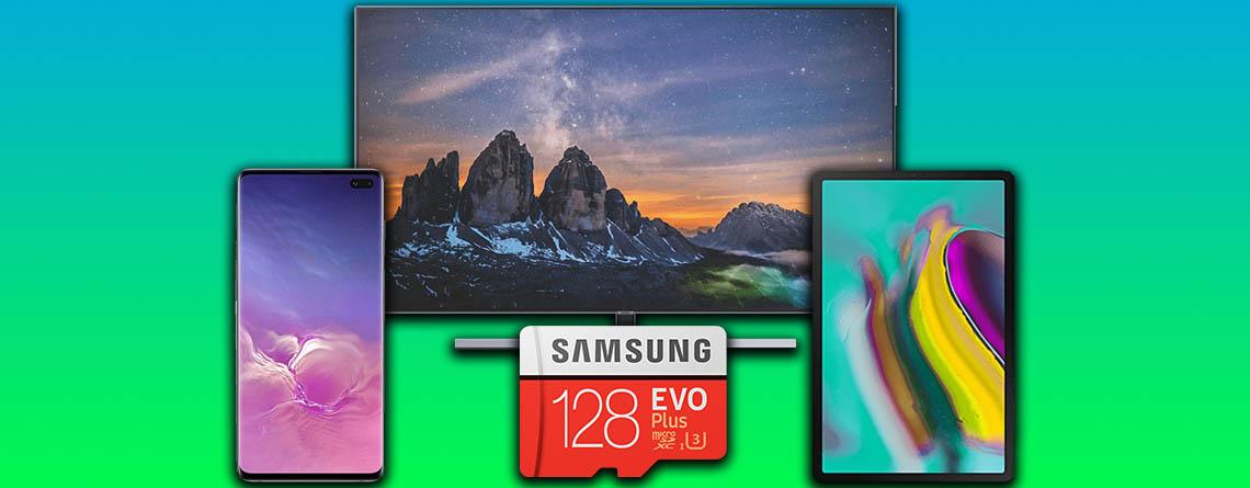 Saturn Prospekt: Samsung Angebote mit Galaxy S10, 4K TV & SSD
