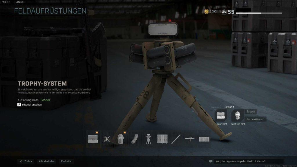 Call of Duty Modern Warfare Trophy System