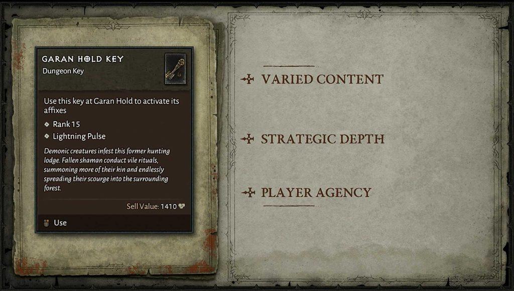 Diablo 4 Dungeon Key Schlüssel