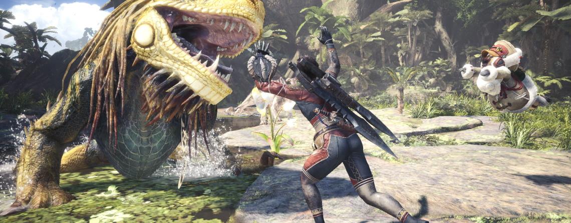 Mit dem neuen Cross-Over in Monster Hunter World könnt ihr bald selbst Monster beißen