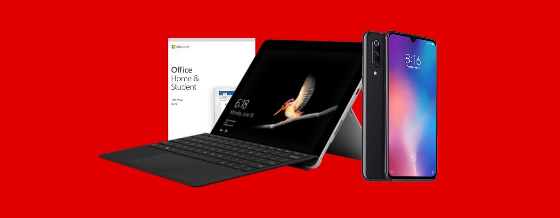 Surface Go mit Zubehör und Xiaomi Mi 9 bei MediaMarkt reduziert