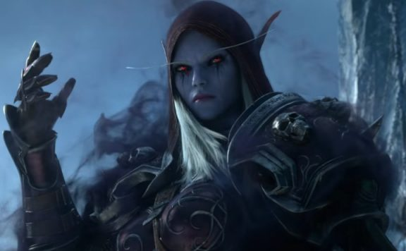 WoW Sylvanas hand holding title 11405x445