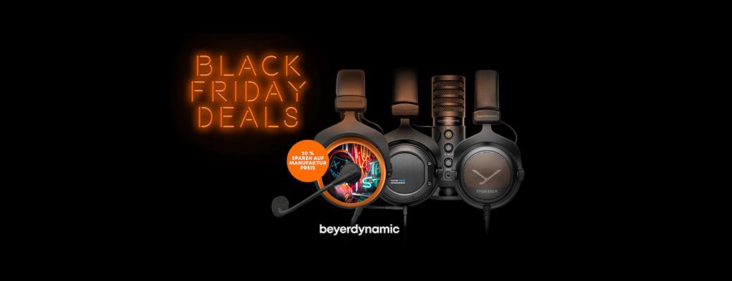 Black Friday Deals – Viele Produkte von beyerdynamic zwei Wochen lang im Angebot