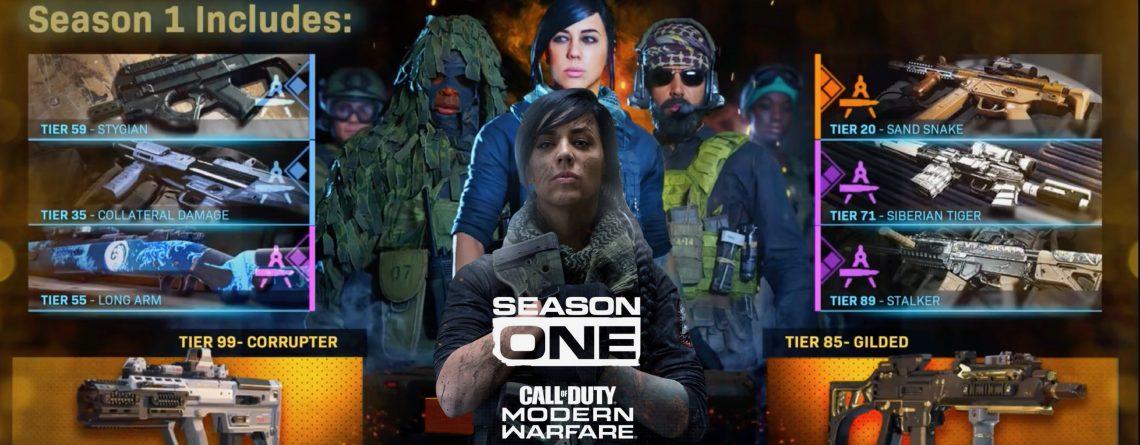 CoD Modern Warfare: Neues Video zeigt alle Belohnungen aus dem Season 1 Battle Pass