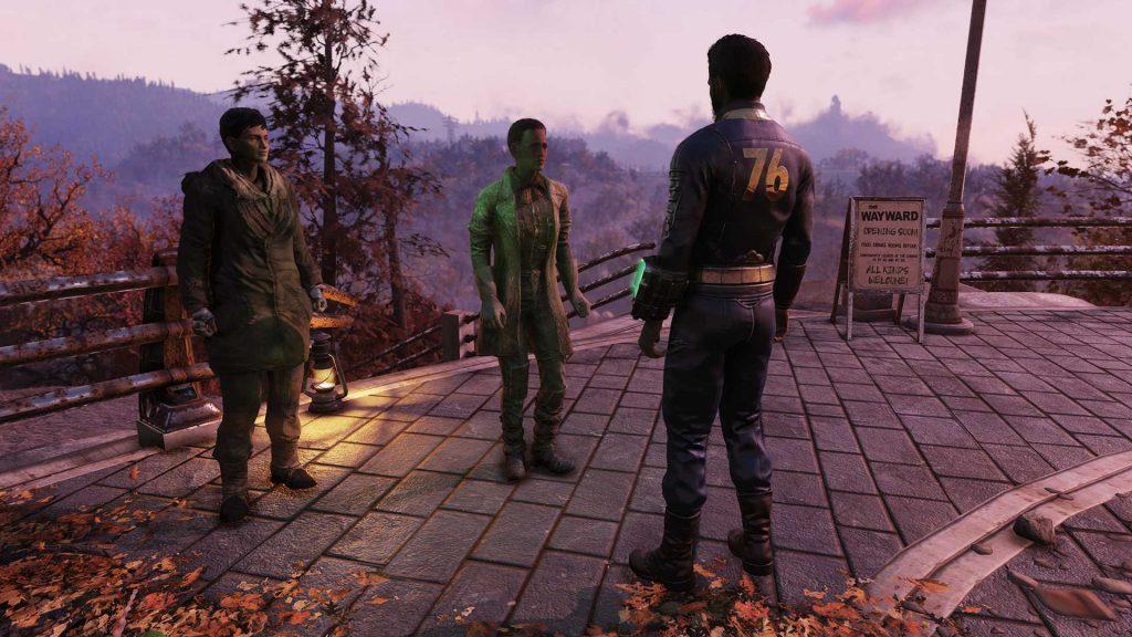 Fallout 76 Wastelanders Screenshot Lacey und Isela