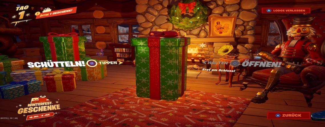 Fortnite startet Winterfest mit Geschenken – So macht  ihr mit