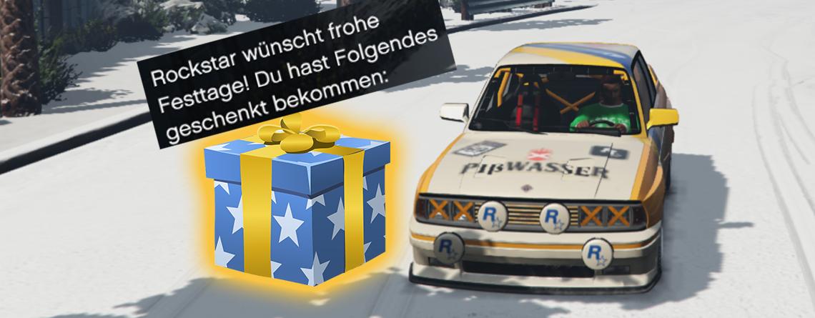 Loggt euch jetzt bei GTA Online ein und sichert diese Geschenke zu Weihnachten