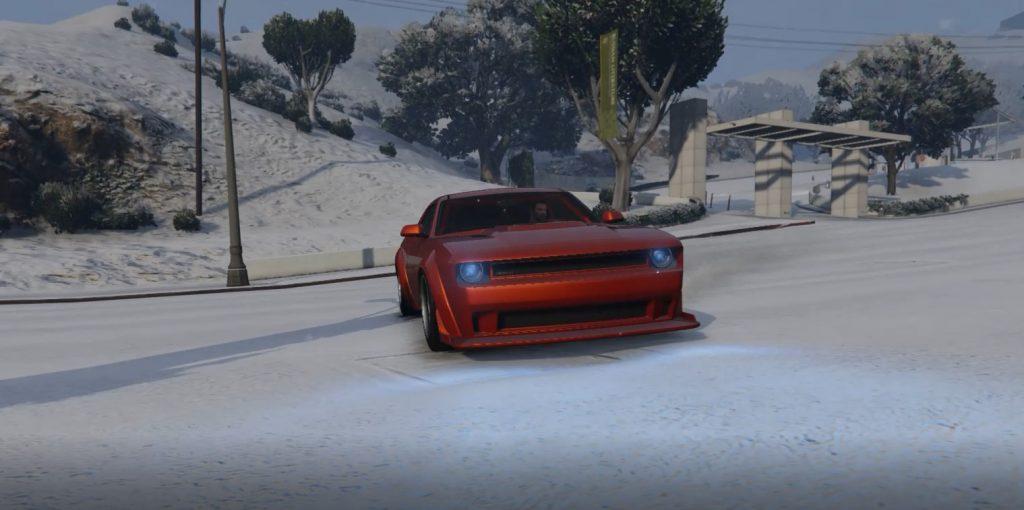 GTA Online Schnee Drift