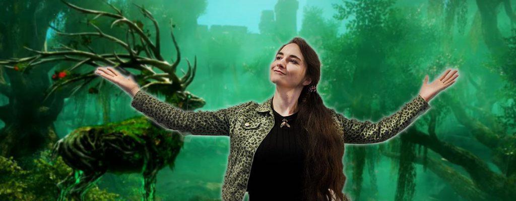 Leya Jankowsk vor Hintergrund von New World