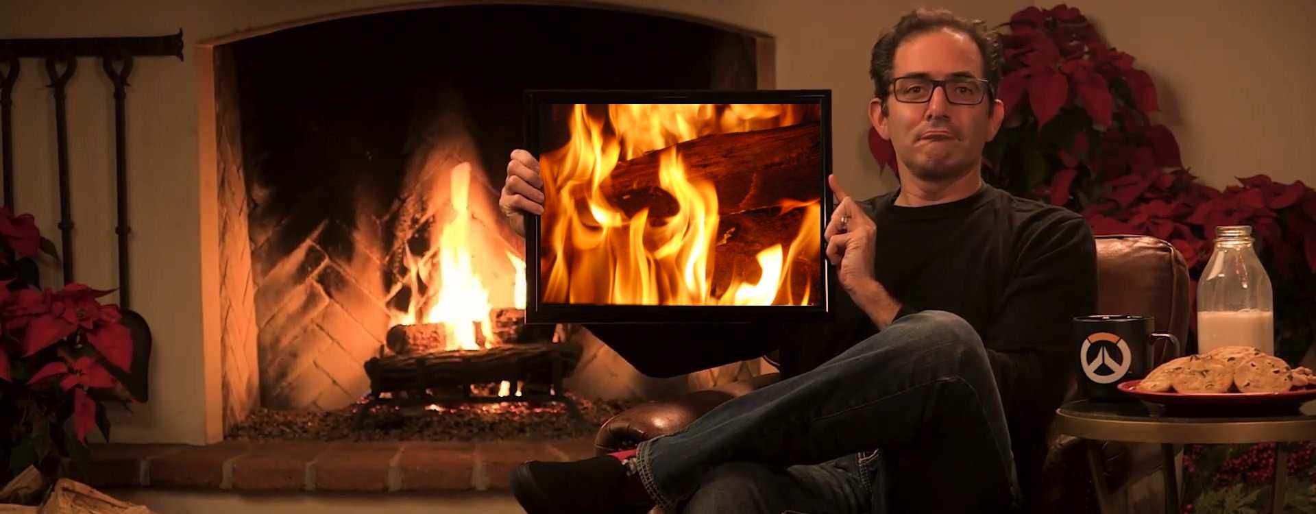 Gamer verbringen Weihnachten mit Jeff vom Overwatch-Team und seinem Holz