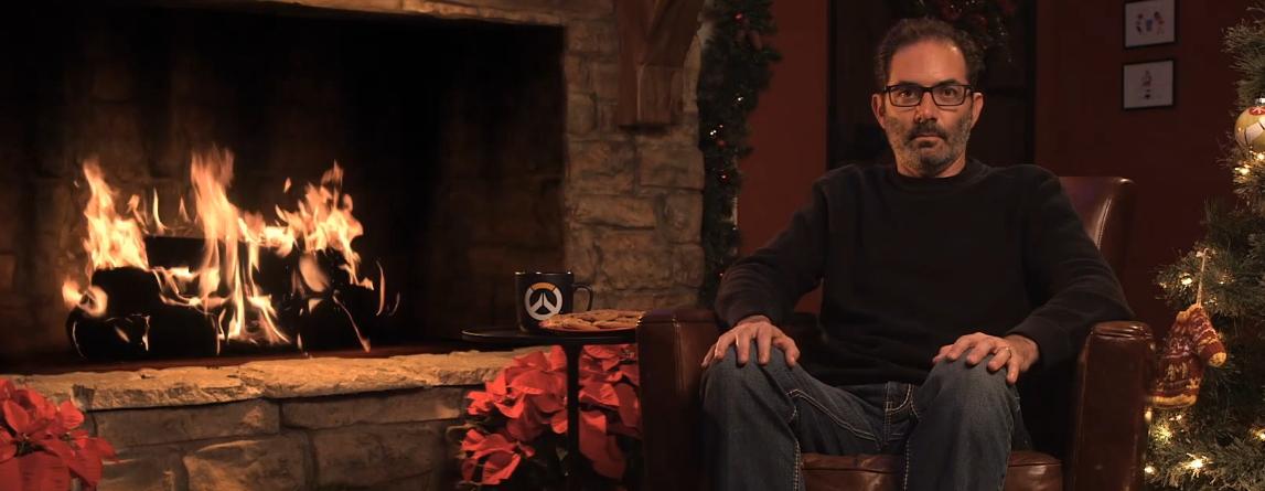 Overwatch: Kaplan blinzelt eine versteckte Botschaft beim Yule Log