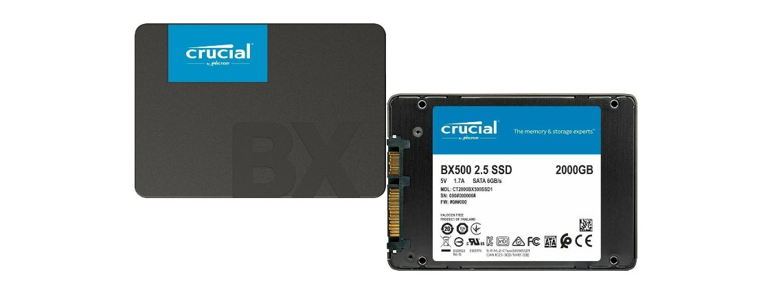 SSDs von Crucial mit 2 und 1 TByte zum Bestpreis vergünstigt bei Amazon