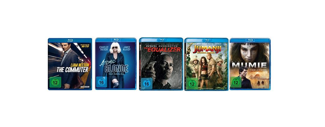 Nur noch heute: 5 Blu-ray-Filme für 30 Euro bei Amazon