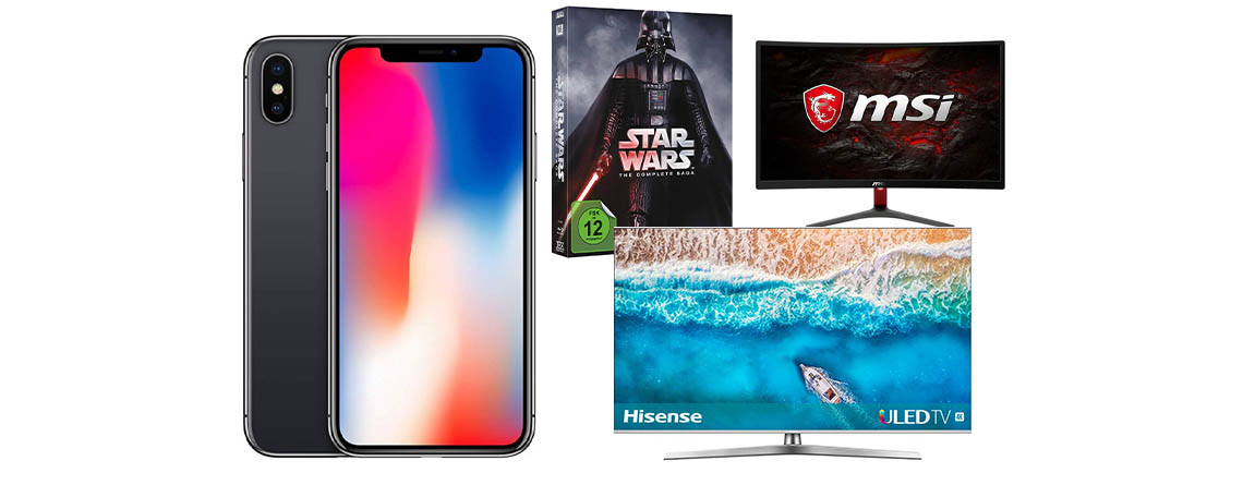 Amazon Angebote: Weihnachten mit iPhone X & Hisense 4K TV