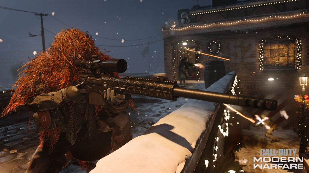 cod modern warfare winter docks sniper