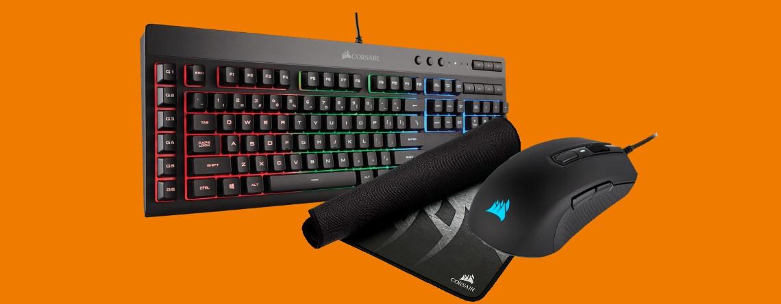 Gaming-Bundle mit Tastatur, Maus und Mauspad bei Saturn reduziert