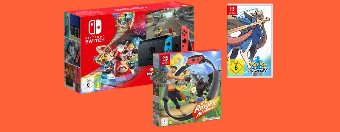 Nintendo Switch Bundle im Saturn Prospekt besonders günstig