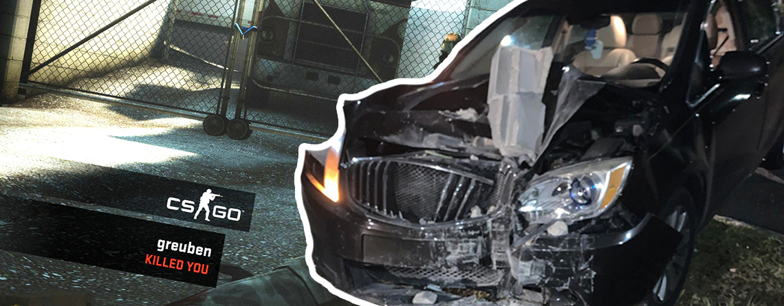 Spieler muss CS:GO-Match im Twitch-Stream abbrechen – Auto rast in sein Haus