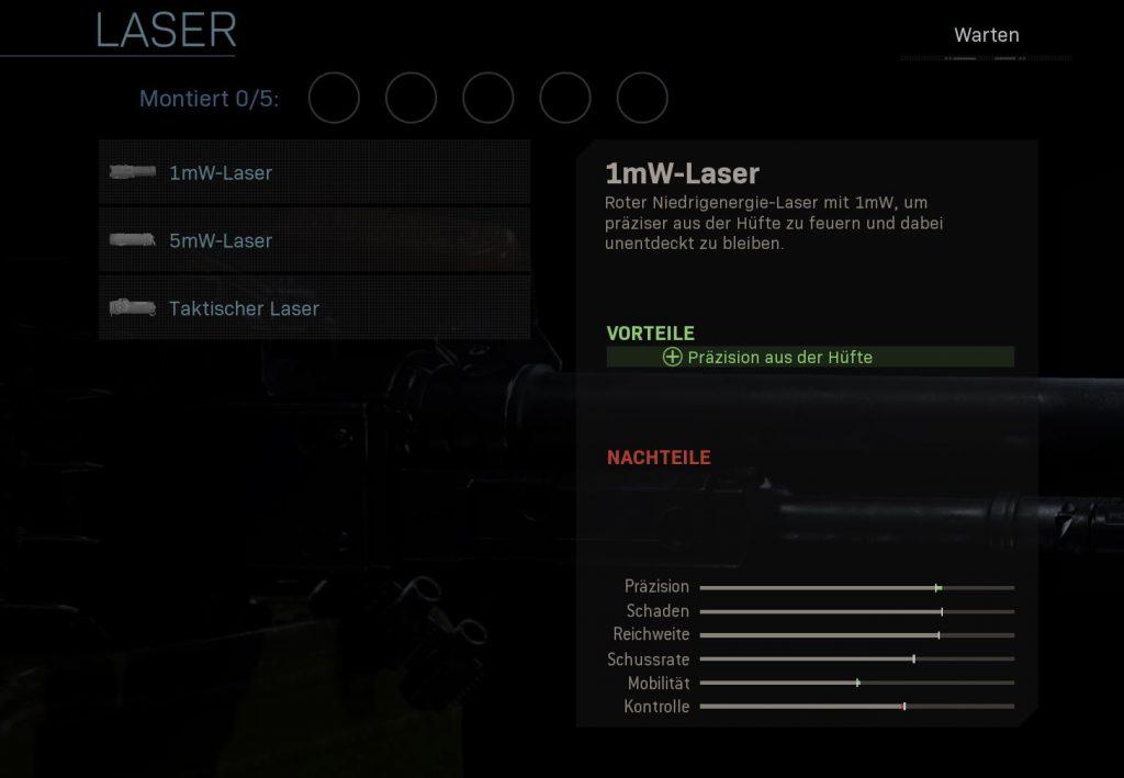 Call fo Duty Modern Warfare 1mw laser