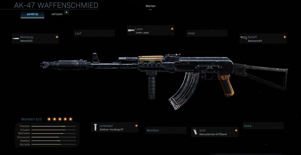 Call fo Duty Modern Warfare AK-47 CQC Setup