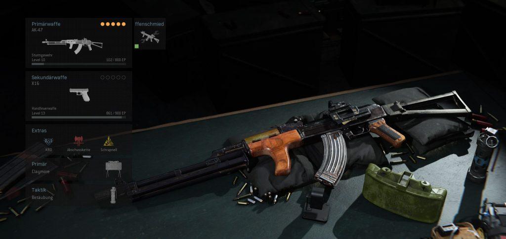 Call fo Duty Modern Warfare AK-47 Defensiv Build