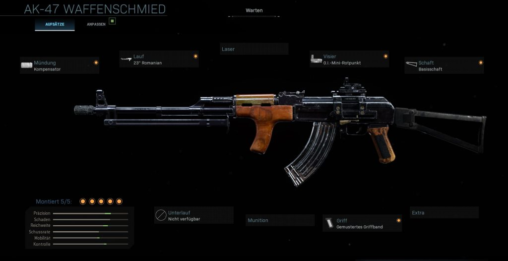Call fo Duty Modern Warfare AK-47 Defensiv Setup